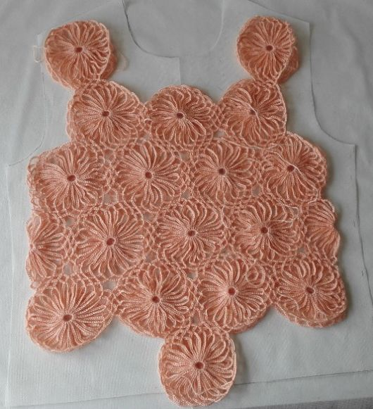 Crocheted Daisy Sweater - ажурная кофточка крючком за 128$