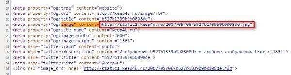 как найти урл картинки в исходном коде