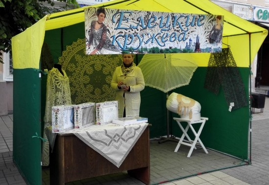 Елецкие кружева на фестивале Русская закваска 2016