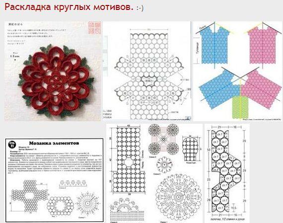 Геометрия узора. Пособие в схемах по соединению круглых мотивов