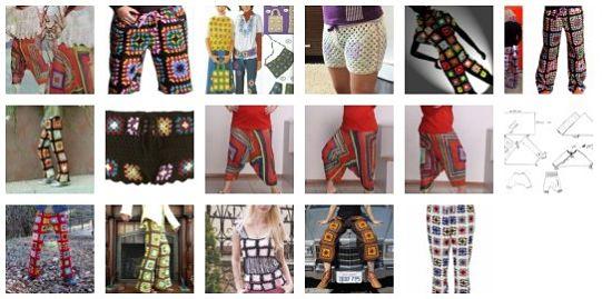 штаны из бабушкиных квадратов