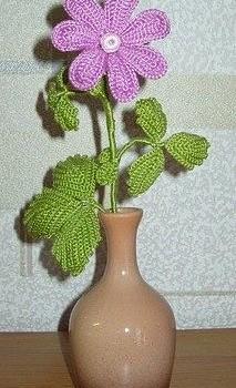 Вязаные цветы княженика