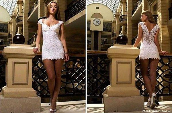 Ну очень маленькое белое платье