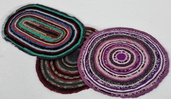 Мои деревенские коврики. Бабушкины коврики, коврики-кругляши