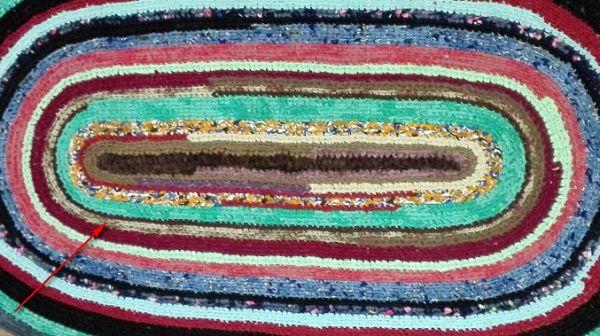 Бабушкин коврик. Ошибки в вязании