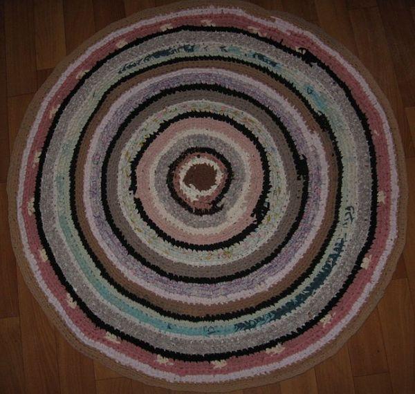 Ярмарка мастеров. Бабушкин коврик, деревенский кругляш