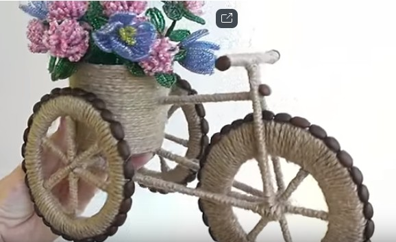 Велосипед-кашпо